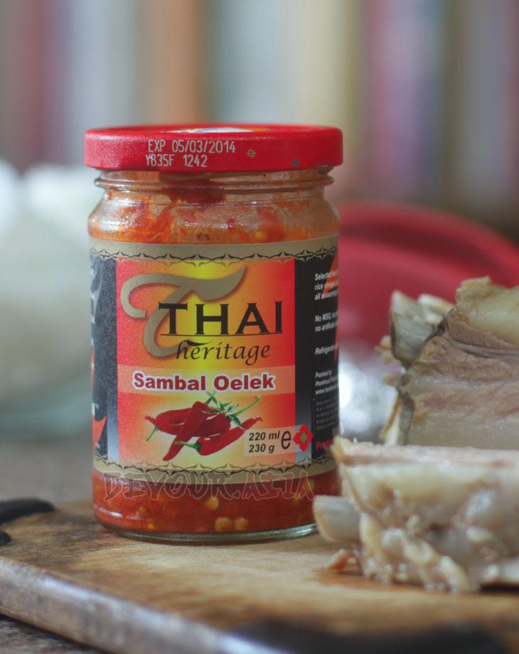Store-bought sambal oelek