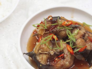 Vietnamese Catfish Braised in Caramel Sauce