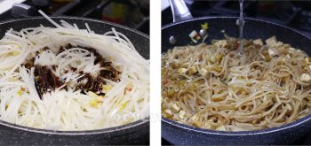 Rice noodles and sauce for pad thai