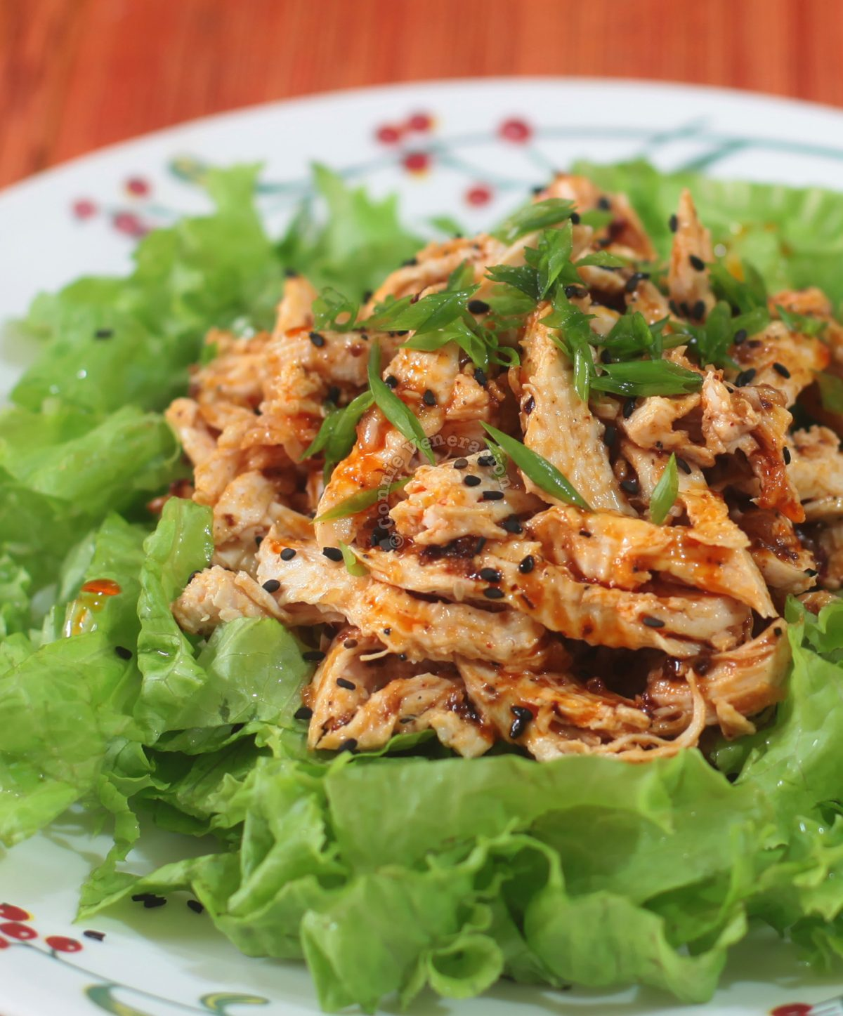 Sichuan Bang Bang Chicken on a Bed of Lettuce