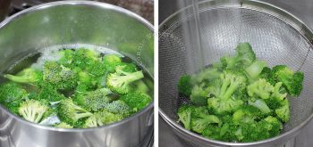 Cooking broccoli in salted water
