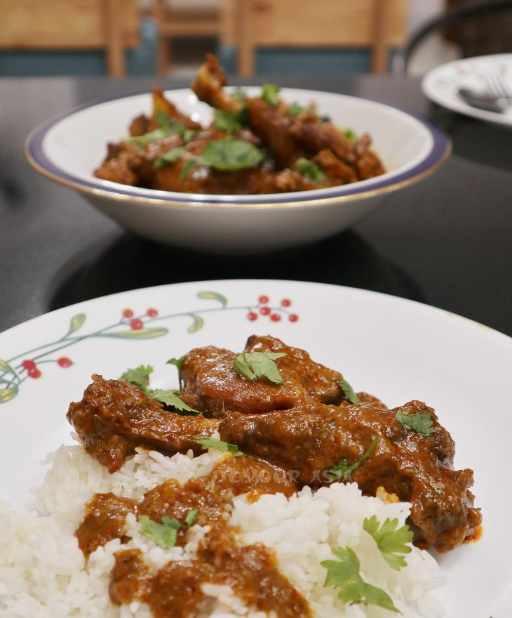 Thai Red Duck Curry Served with Jasmine Rice