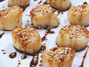 Seared Scallops with Gingered Teriyaki Sauce