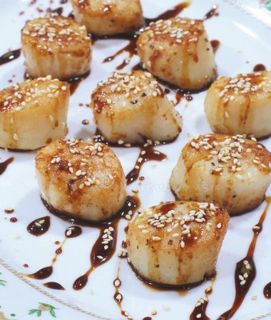 Seared Scallops with Gingered Teriyaki Sauce