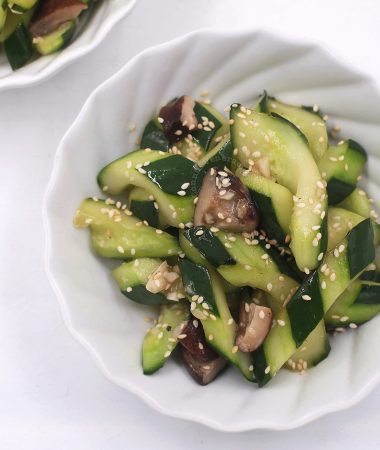 Cucumber and Mushroom Stir Fry