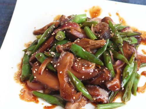 Shiitake Green Beans Shigureni