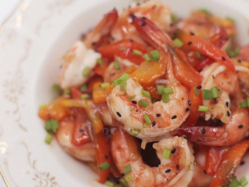 Sichuan Shrimps with Plum Sauce
