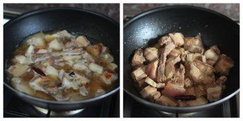 Simmering Pork Belly to Make Sticky Sichuan Pork