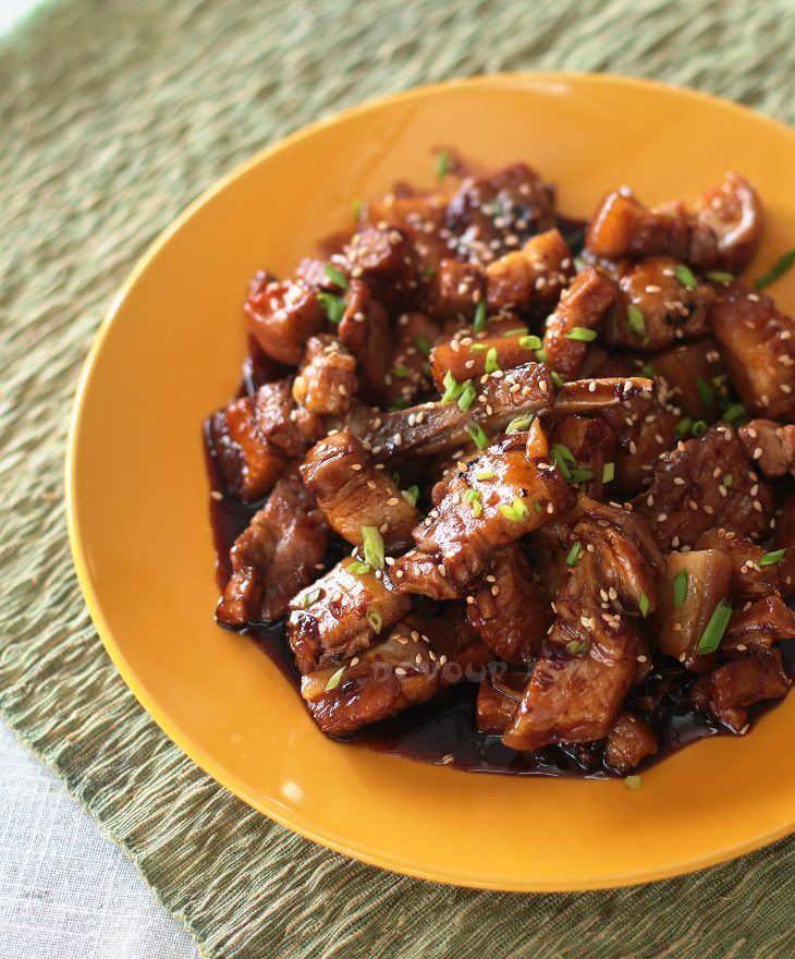 Sticky Sichuan Pork in Platter