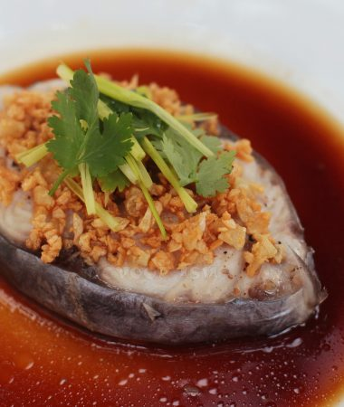 Steamed Fish With Sweet Soy-ginger Sauce
