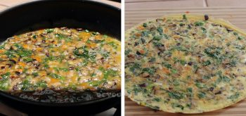 Thai Stuffed Omelette (Khai Yat Sai) in Frying Pan