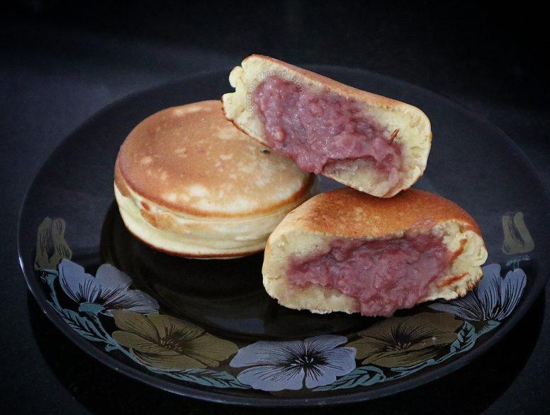 Ube Pancake Sandwiches