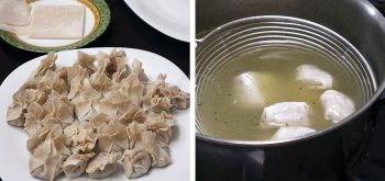 How to boil wonton in broth