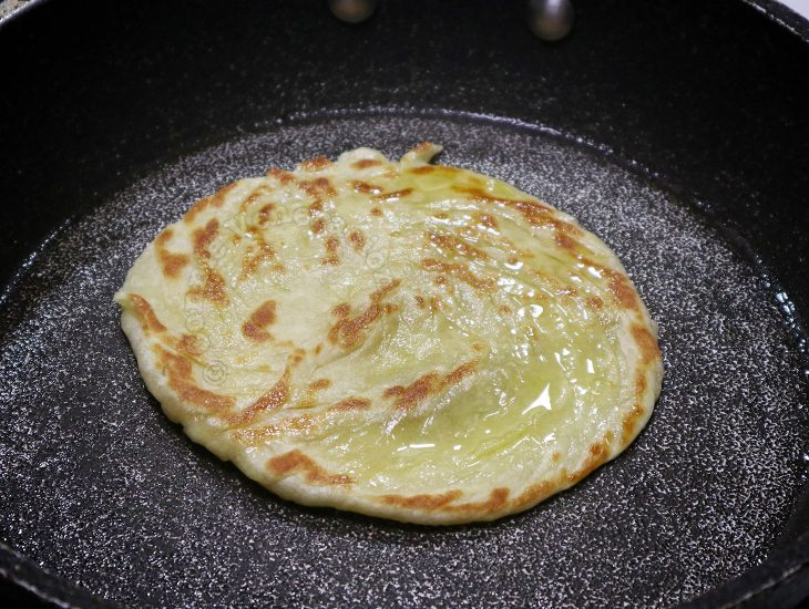 Home cooked paratha