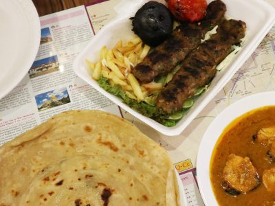 Paratha, kebob and butter chicken from Al Reem in Chiang Mai