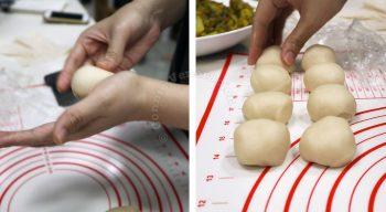 How to make samosa, step 1: Make the dough and form into balls