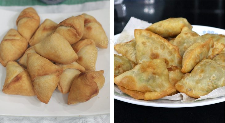 Spicy samosas with the flakiest crust