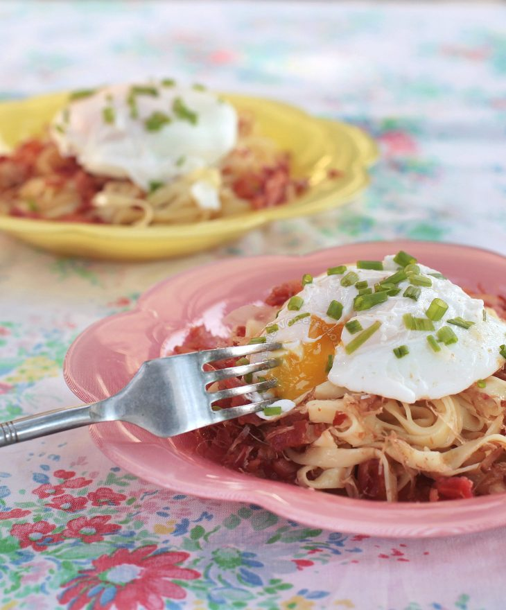 Bacon and Egg Mazemen Recipe