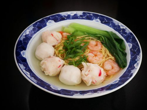 Shrimp and Fish Balls Noodle Soup