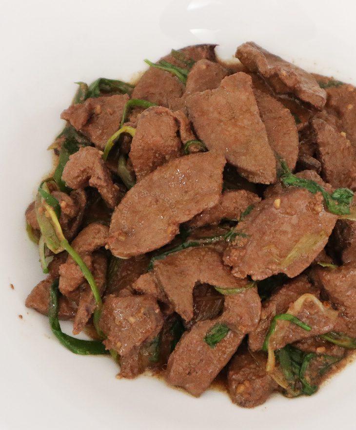 Keto Pork Liver and Spring Onion Stir Fry
