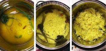 Rice with lemongrass, pandan, galangal and turmeric