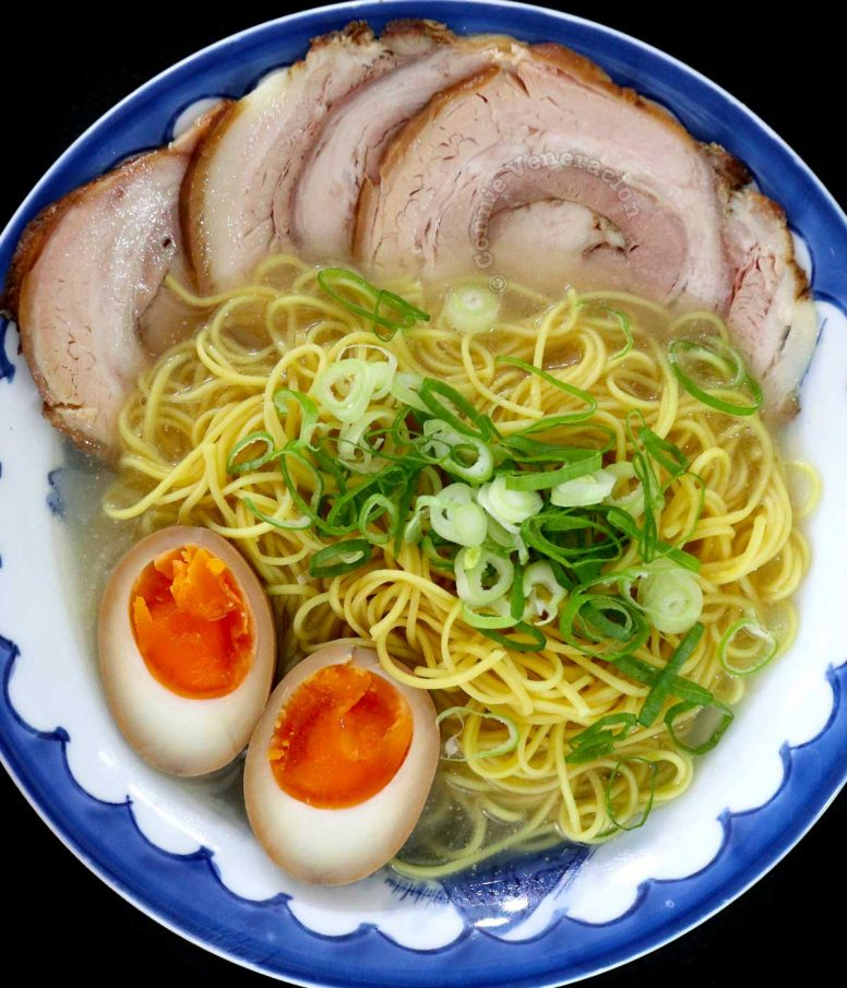 Chashu and soy sauce egg ramen (home cooked)