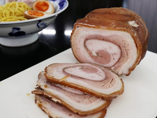 Sliced chashu (Japanese braised pork belly)