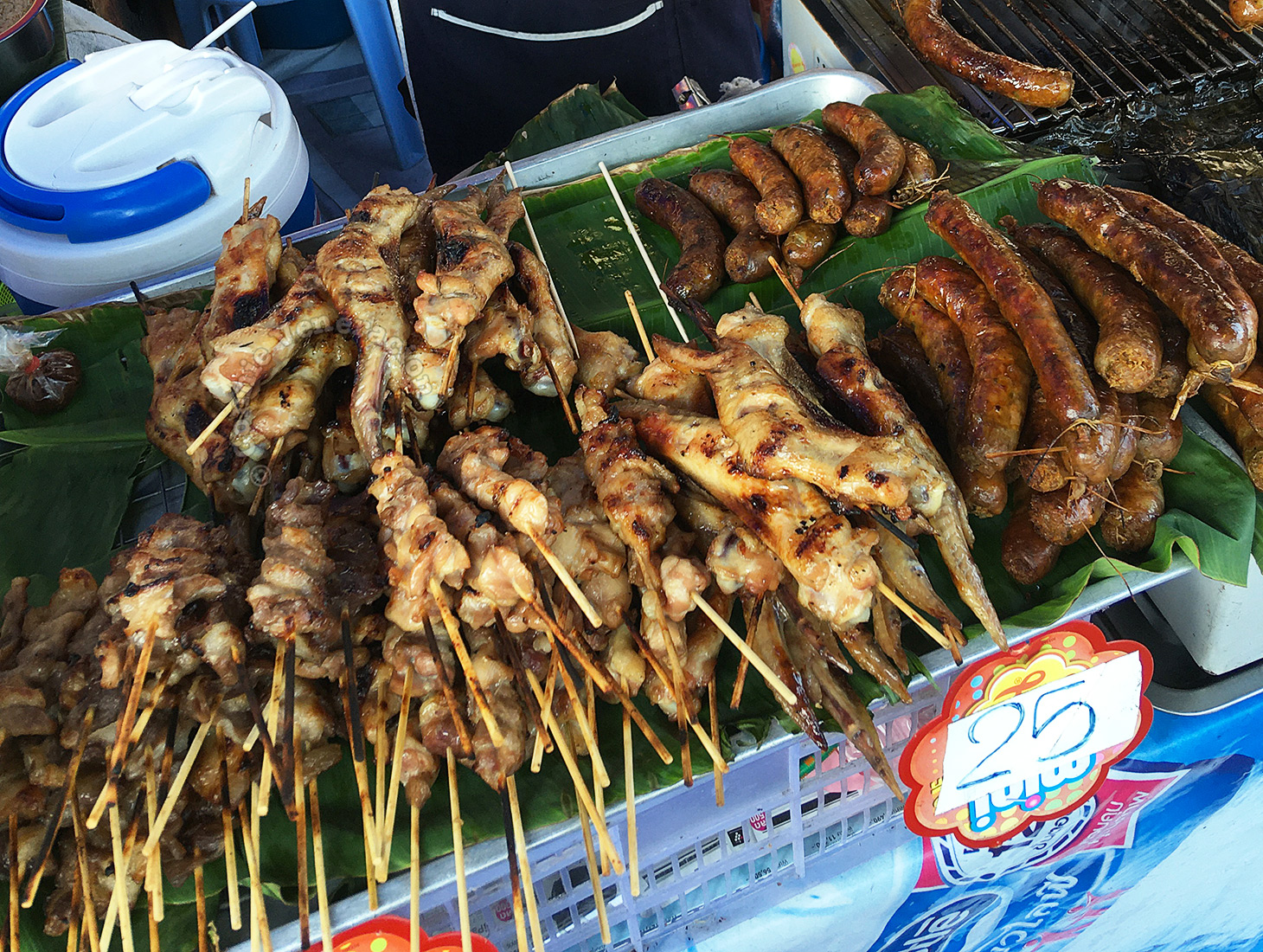 Sate stall at the Chiang Mai Sunday Market