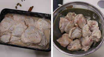 Yogurt-marinated Chicken Garam Masala Recipe, Step 1: Marinate the chicken then drain