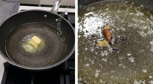 Yogurt-marinated Chicken Garam Masala Recipe, Step 2: Heat butter and oil; add spices