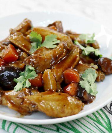 Chinese Braised Chicken Wings and Shiitake Recipe