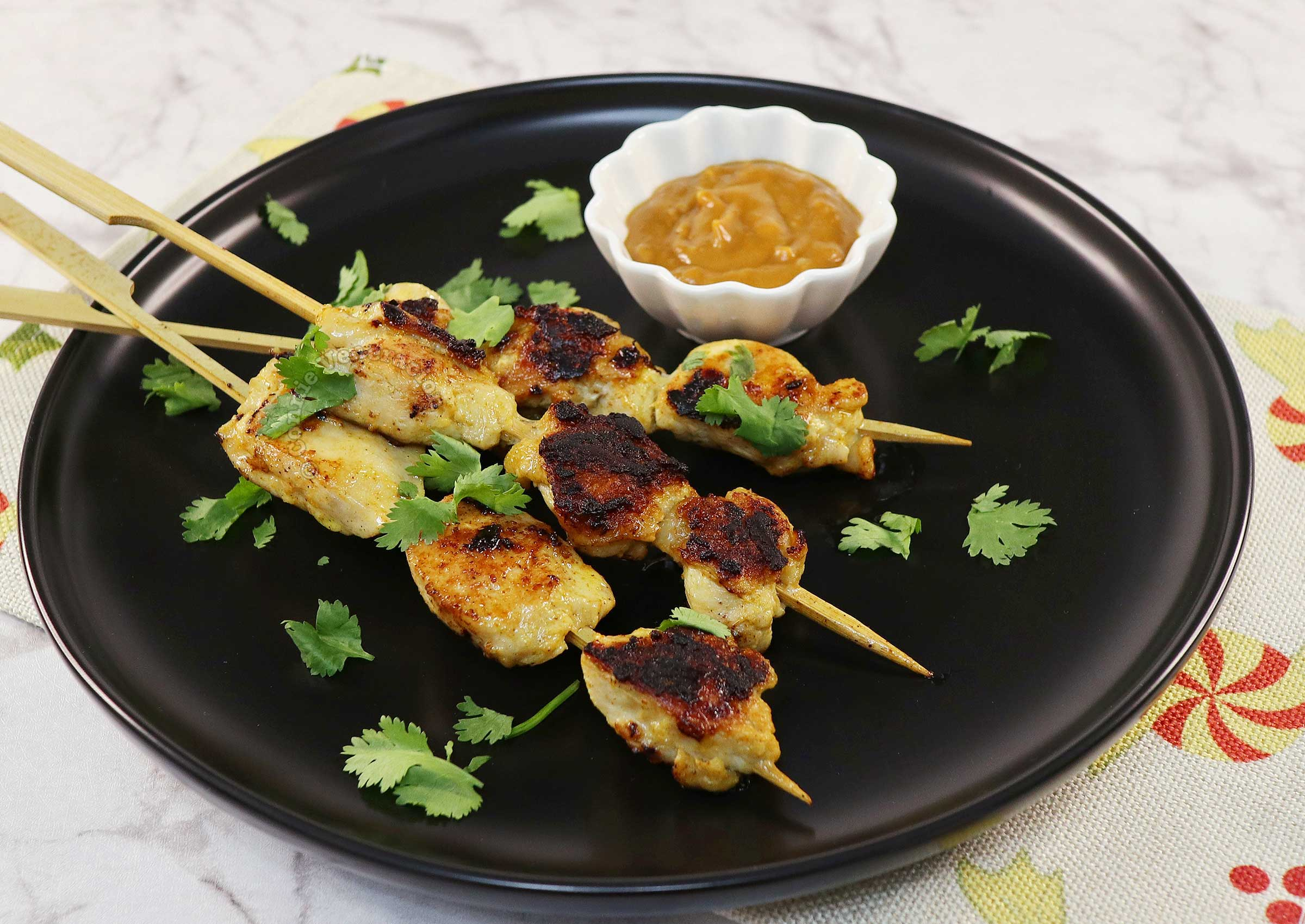 How to Cook Chicken (Sate / Satay) with Peanut Dipping Sauce