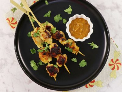 Chicken (Sate / Satay) with Peanut Sauce Recipe