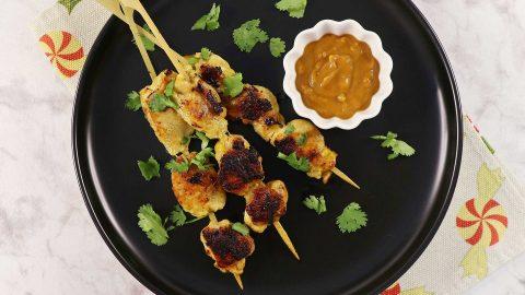 Chicken (Sate / Satay) with Peanut Sauce Recipe
