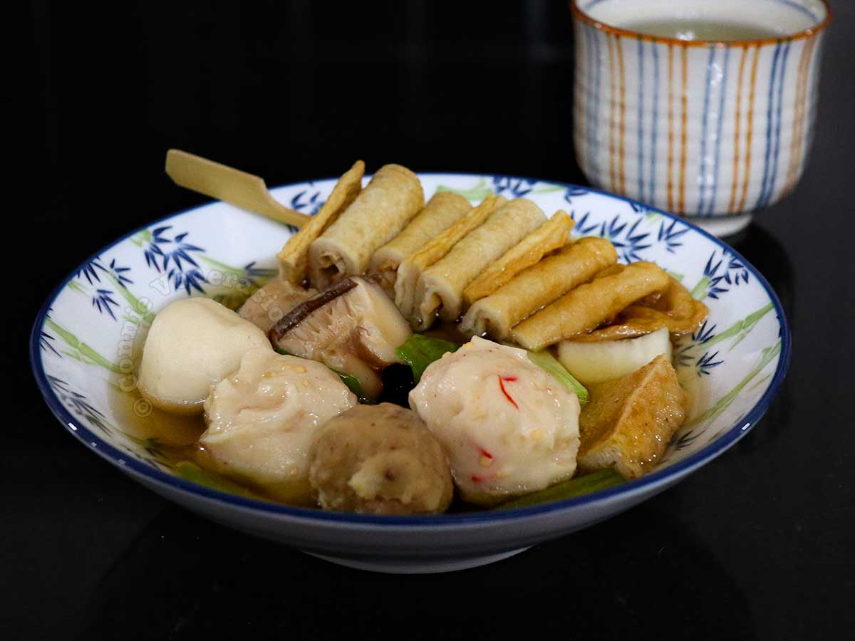 Bowl of Oden with Cup of Tea