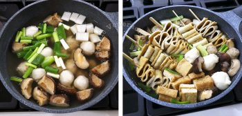 Simmering Oden (Japanese Fish Cake Soup/Stew) in a Regular Pot