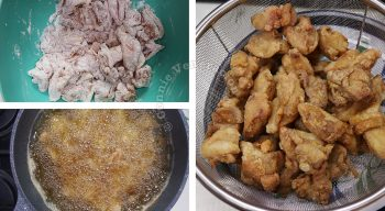 Sweet Sour Chicken Recipe, Step 1: Marinate the chicken, toss in starch and fry