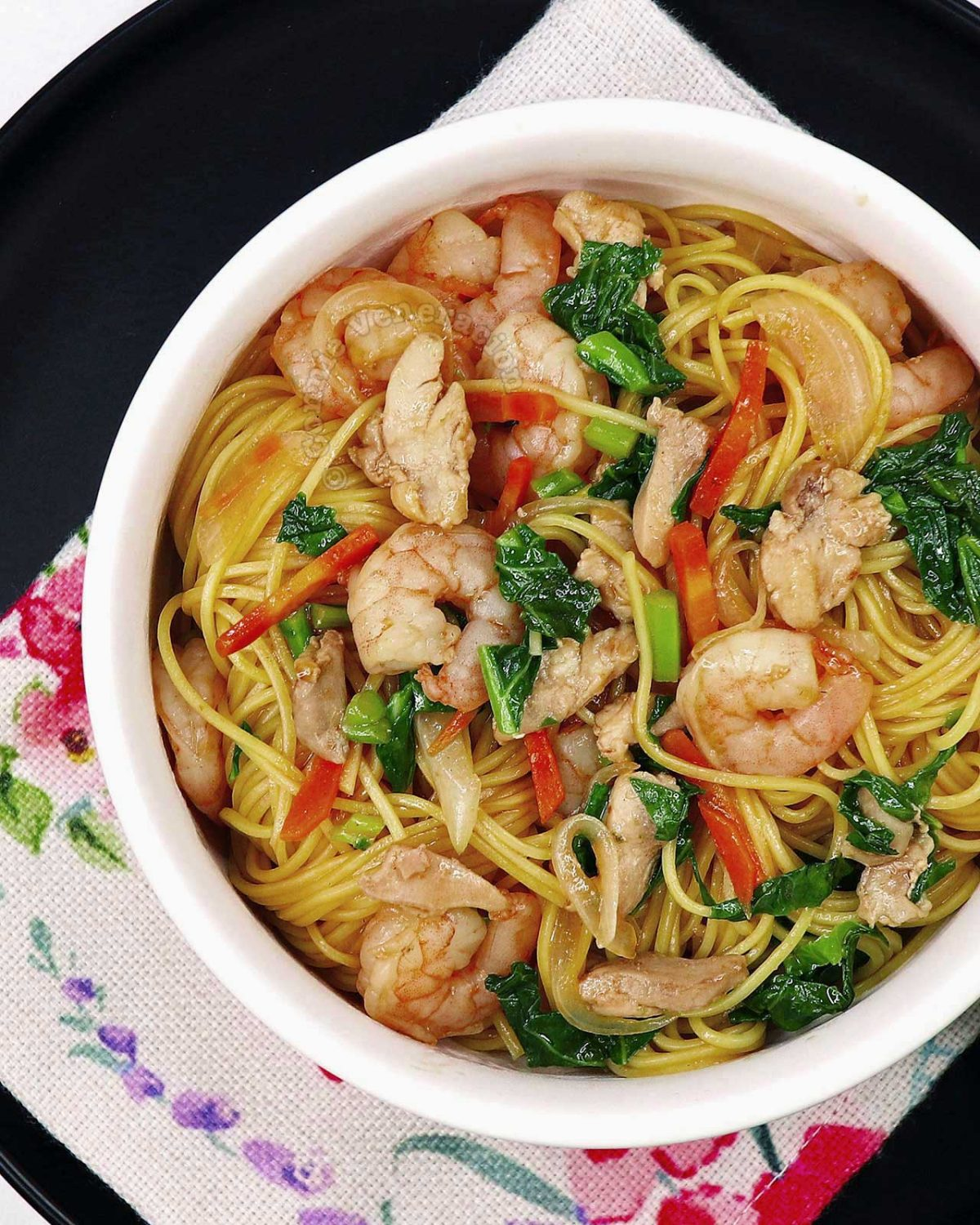Chicken and Shrimp Chow Mein Recipe