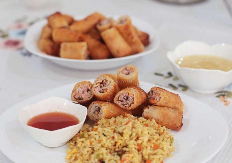 Fried Pork Spring Rolls