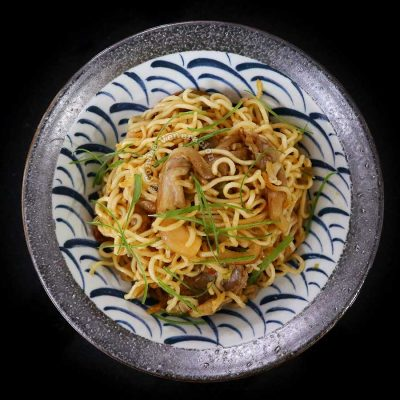 Spicy Instant Ramen with Oyster Mushrooms Recipe
