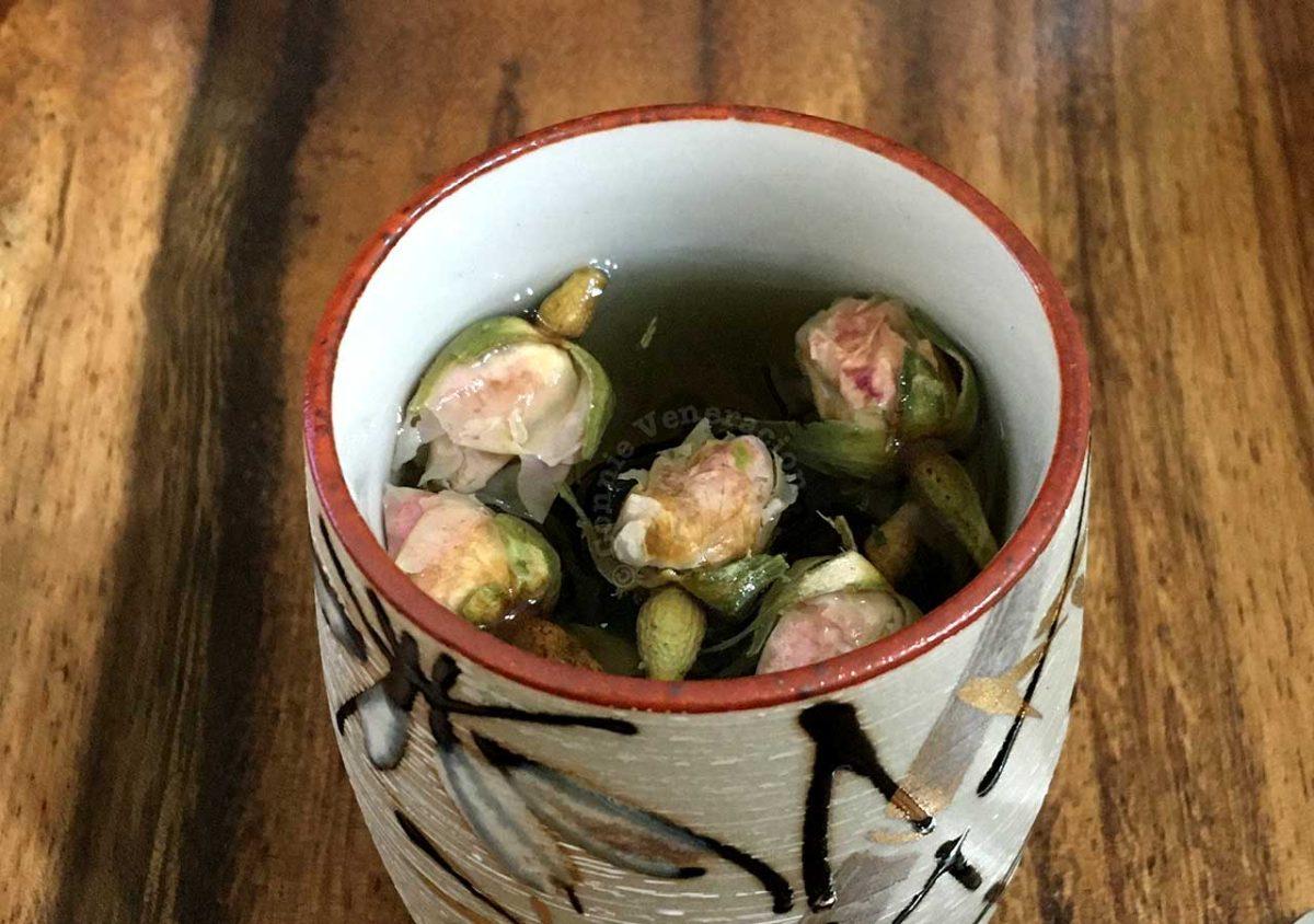 """Hot rose """"tea"""" in a cup"""
