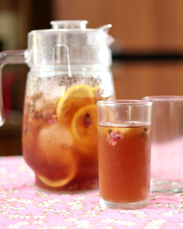 """Iced rose """"tea"""""""