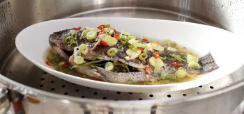 Steamed Whole Tilapia in the Steamer