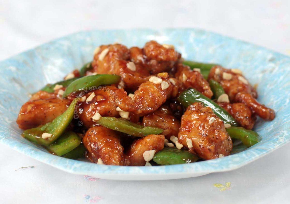 Spicy fried chicken fillet