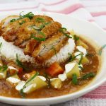 Chicken katsu curry with rice