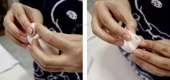 How to pleat gyoza wrapper