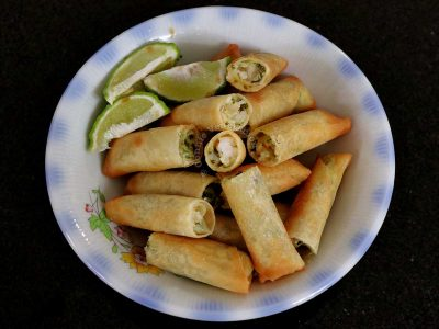 Shrimp and Spinach Spring Rolls