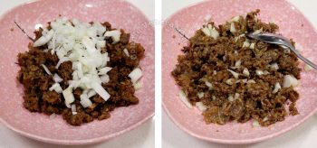 Adding raw onion to cooked beef