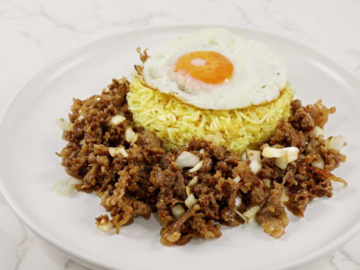 Tapsilog a la Beef Salpicao with Garlic Turmeric Fried Rice