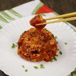 Details of spicy tuna tartare